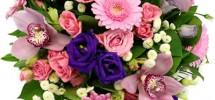 bouquet fleurs roses bleues mariage