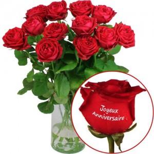 livraison rose anniversaire