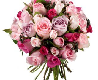bouquet fleurs roses